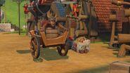 MM - The mechano dragon grabbing a wheelbarrow