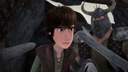 DOB - Hiccup looks at a sword pointing at him
