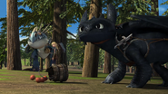 Toothless hears the screaming