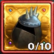 Grim Gold Dragon Hunter Helmet