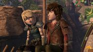 Astrid about to ask Hiccup a question
