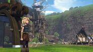Astrid watching Hiccup fly off