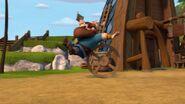 HM - Duggard getting hit by a wagon wheel