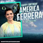 Happy Birthday America Ferrera Ad