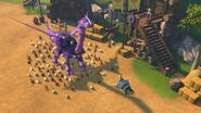 GOH - A bunch of chickens around the mechano dragon