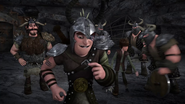 DOB - One of Dagur's henchmen takes away Hiccup's shield