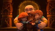 GOH - Dak and Leyla hugging Duggard