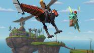 MM - The mechano dragon headed towards Leyla and Summer