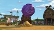 HM - The boulder going air borne