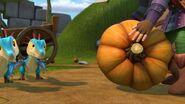 GGP1 - Leyla rolling a pumpkin towards the shriekscales
