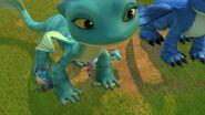 GGP1 - The baby shriekshales hiding behind Summer's front legs