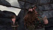 DOB - Hiccup and Stoick look at each other