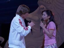 Gabriella and Troy singing during the callbacks for Twinkle Towne.jpeg