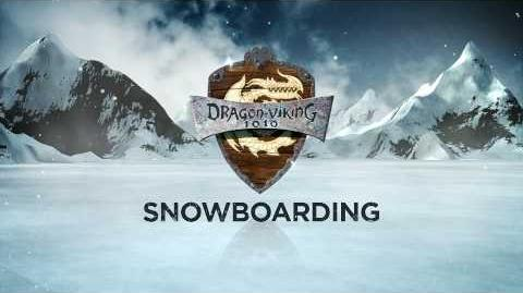 HOW TO TRAIN YOUR DRAGON - Dragon-Viking Games Vignettes- Snowboarding