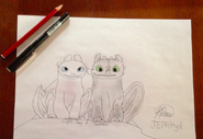 JEPHttyd's Light Fury And Toothless