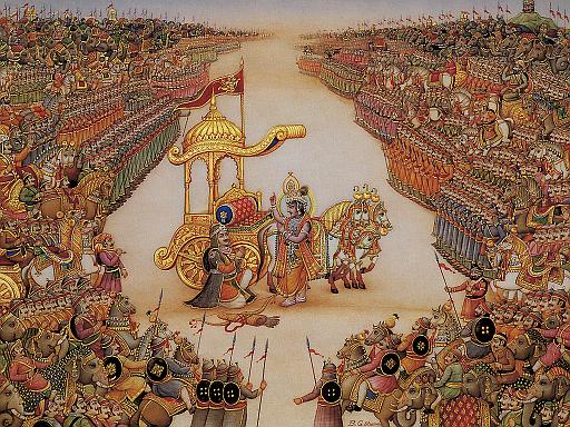BG Krishna instructs Arjuna.png