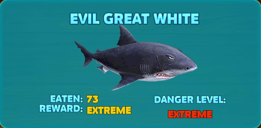 Evil Great White Shark