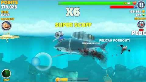 Hungry shark evolution, sharkman