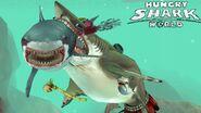 Megalodon player devuors an evil great white shark