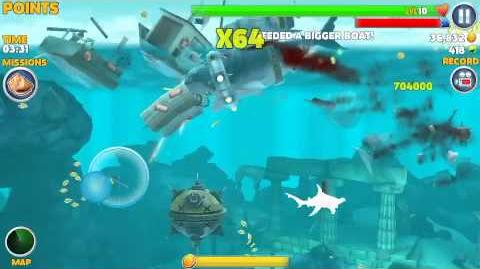 Hungry shark evolution, vortex collar gameplay
