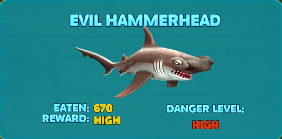 Evil Hammerhead Shark