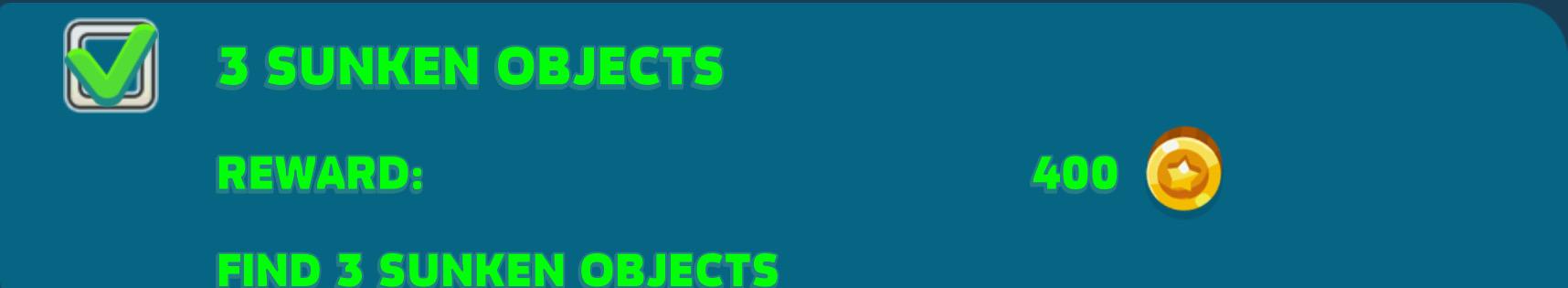 3 Sunken Objects