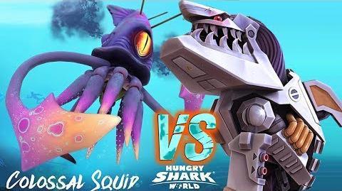 ROBOT SHARK VS COLOSSAL SQUID BOSS - Hungry Shark World 2017 Episode 3