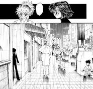 Chap 111 - Gon and Kurapika hiding from Chrollo, Shizuku, and Machi