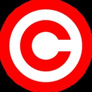 Hak cipta merah