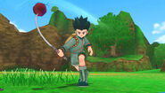 Gon using his fishrod