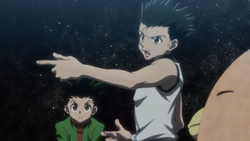 Ging and Gon exchanging stories.png