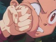 Hisoka punches Gon