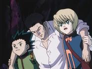 Gon and Kurapika help Leoriio