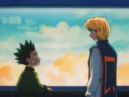 Gon and Kurapika thanking each other
