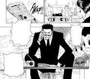 Chap 112 - Leorio cleverly communicating with Gon and Killua