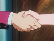 Gon shake Satotz handshake