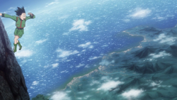 Gon climbs the world's largest tree.png