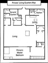 Princes' Living Quarters Map