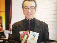 Togashi with His Anime Mangas