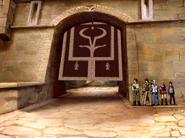 S2E46 team Grier castle gate