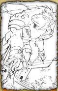 Wolf Knight (Pencil Sketch)