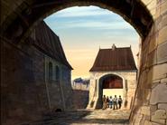 S2E46 castle courtyard team