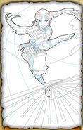 Fan Dancer (Pencil Sketch)