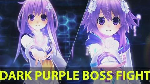 Megadimension Neptunia VII Dark Purple Boss Fight PS4