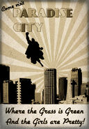 Paradise City 1940's Poster