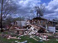 Tornado damage Gladstone, MO