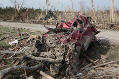 EF5 damage in Detroit, Michigan.