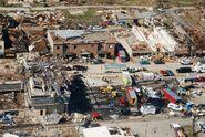 EF3 damage in downtown Leesburg