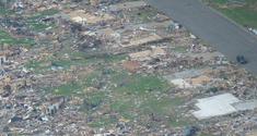 EF5 damage in Cincinnati, Ohio.