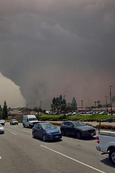 The tornado near peak strength moving through southern Vista